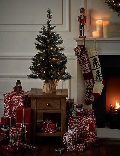 3ft Pre Lit Christmas Tree M S Pre Lit Christmas Tree Small Christmas Trees Holiday Decor