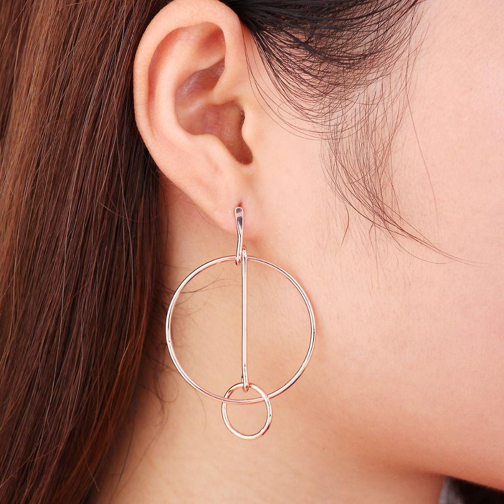 2016 Bohemian Style Fashion Designer Jewelry Earrings Korean Geometric  Circle Stud Earrings for Girls Simple Gift