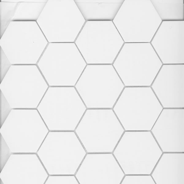 White Hexagonal Tile For Bathroom Floor