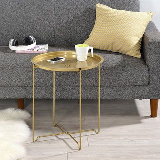 Shop for Round Fold Down Accent Table. Free Shipping on orders over $45 at Overstock.com - Your Online Furniture Outlet Store! Get 5% in rewards with Club O!