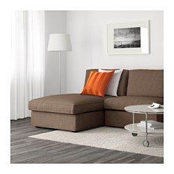 KIVIK 1-zitselement met chaise longue - Dansbo roodpaars - IKEA