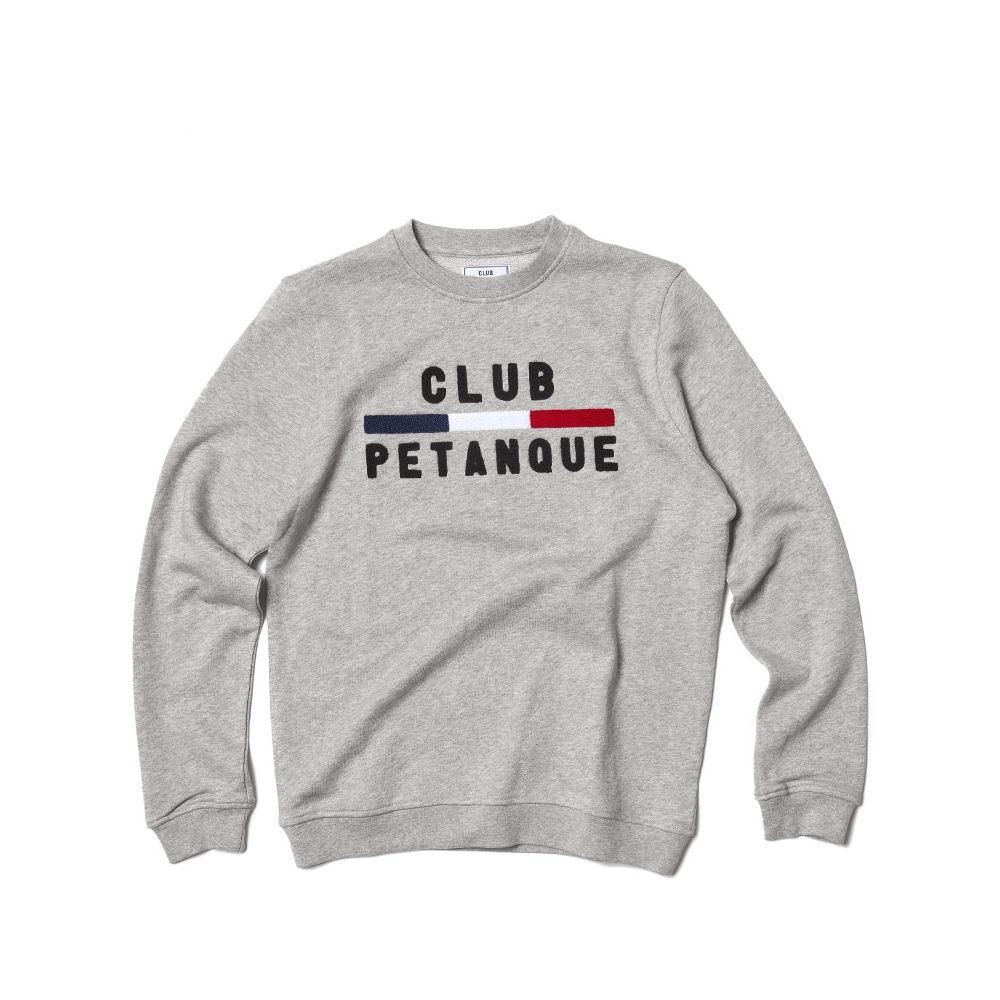 Sweat Sport Détente - Gris Chiné Collection Printemps-Eté 17 Club Pétanque.