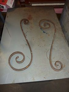 Cast Iron Stair Porch Railing Baluster s Shaped Pieces Great Potential 4 Art 24 | eBay