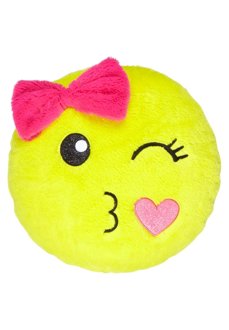 Winking Emoji Pillow Original Price 19 90 Available At Justice Emoji Pillows Smiley Face Pillows Girls Room Accessories
