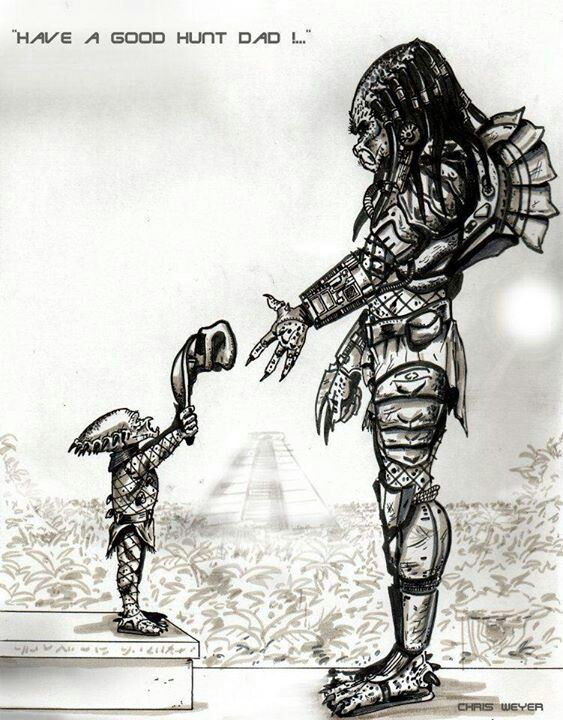 Father and son | Predator | Pinterest | Bocetos, Serpientes y Películas