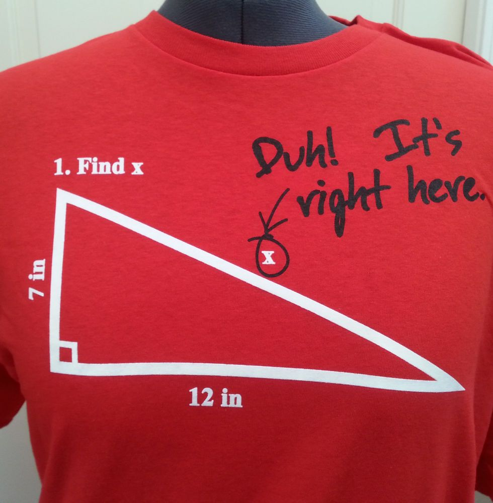Ital tees bass culture and sound system clothing - Find X Math Joke T Shirt Size 2xl Red Funny Tee Snark Geek Nerd Dumb