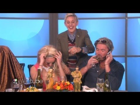 can't stop laughing Ellen Thanksgiving table!