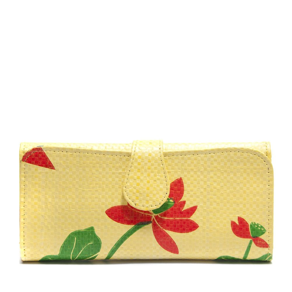 Recycled rice bag purse - Recycled Rice Bag Wallet