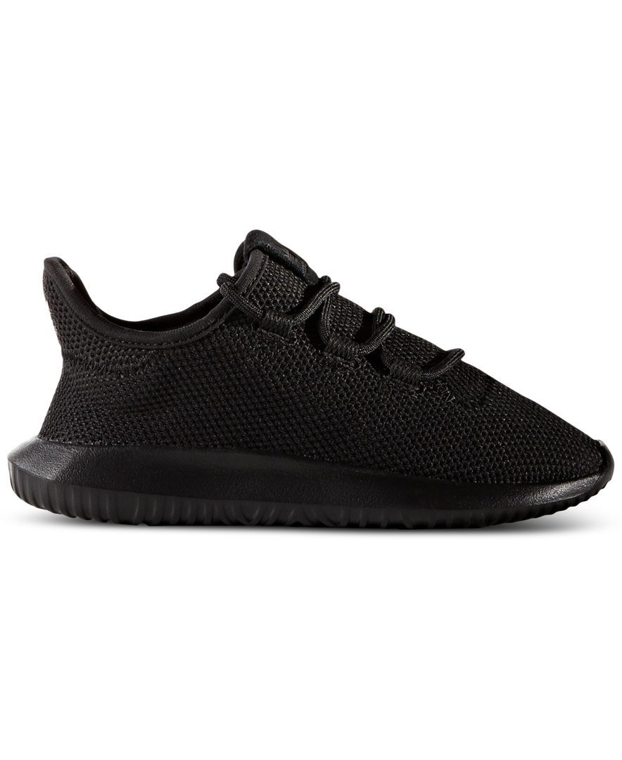 New Infants adidas Black Tubular Shadow Textile Trainers Running Style Lace Up