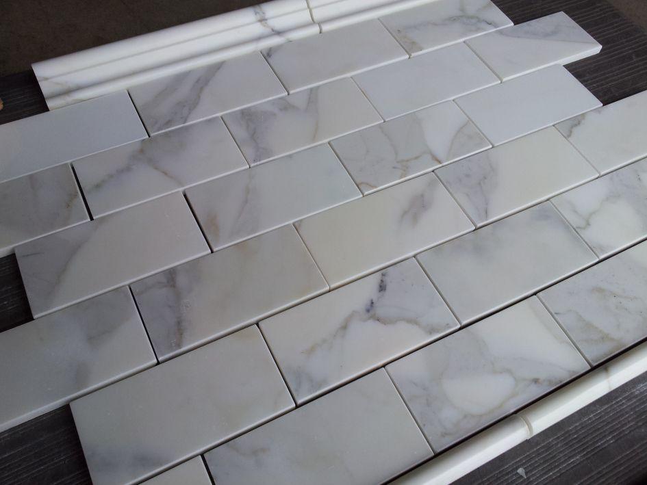 Italian 3x6 polished calcatta marble tile bathroom pinterest calacatta gold italian marble subway tile polished wall and floor tile atlanta thebuilderdepot ppazfo
