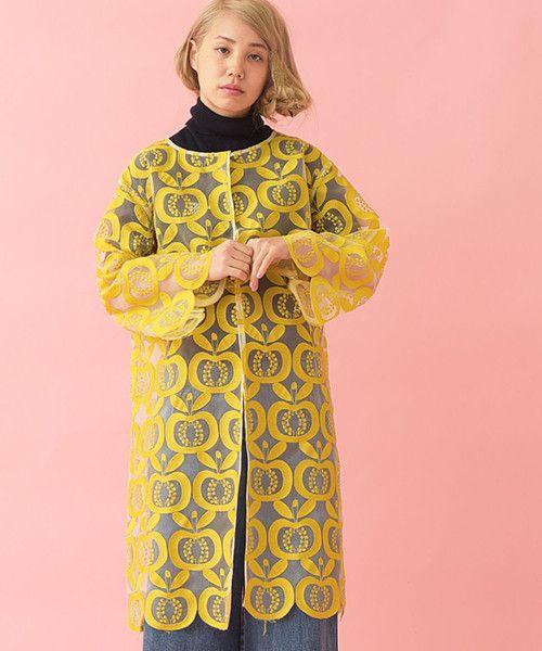 AMBIDEX Store 【予約販売】○フルル 実刺繍コート(F イエロー): l'atelier du savon