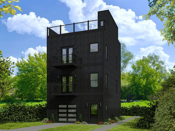 Unique Garage Apartment Plan 062g 0130 Contemporary House Plans Modern House Plans House Plans