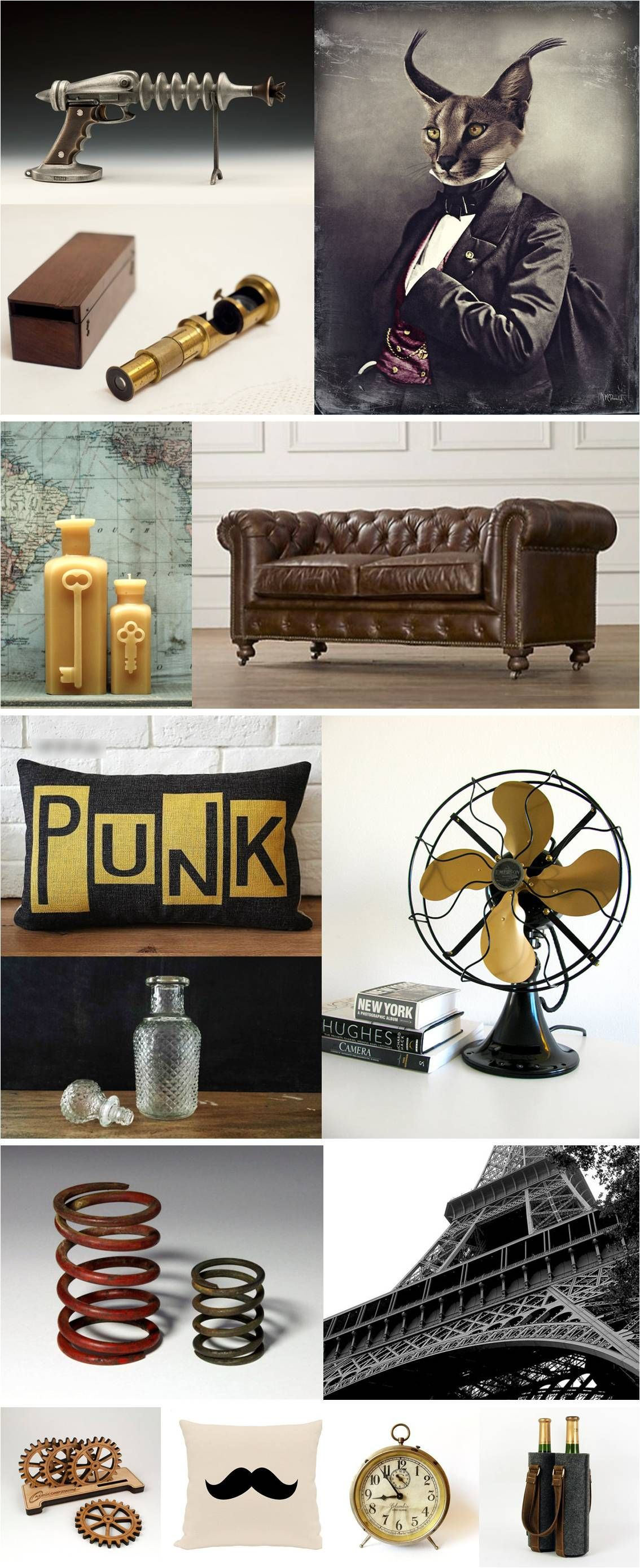 """Ck out """"STEaMPuNK StYLE"""" #Etsy finds from #atelierNo22 --------------HoMEdeCOR--------------- Victorian Industrial ...............................CLiCKonPiN to follow me on tumblr."""