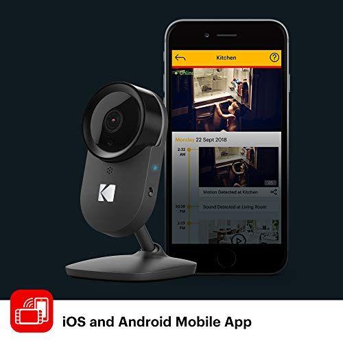 KODAK Cherish F670 Home Security Camera with Mobile App – Full-HD