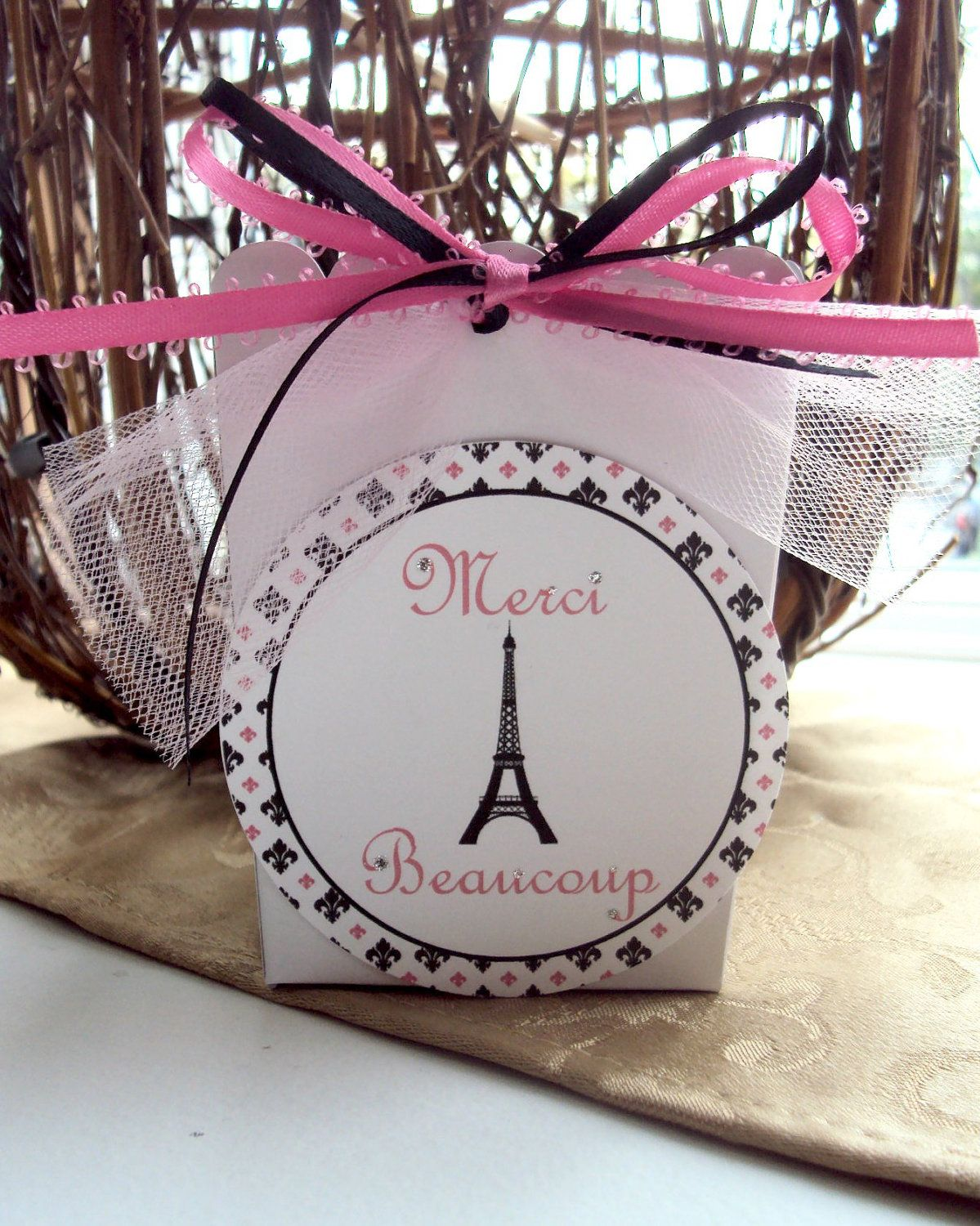 Paris Themed Party Favor Box