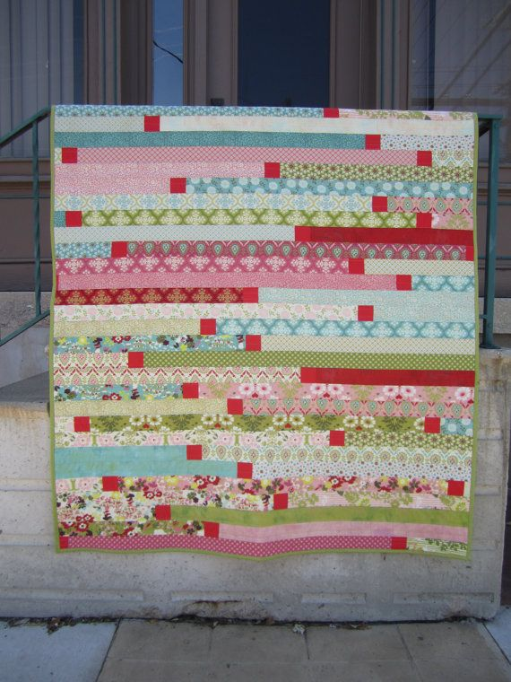 Strips and Bits A 25 inch stripfriendly quilt by QuilterSteff, $7.00