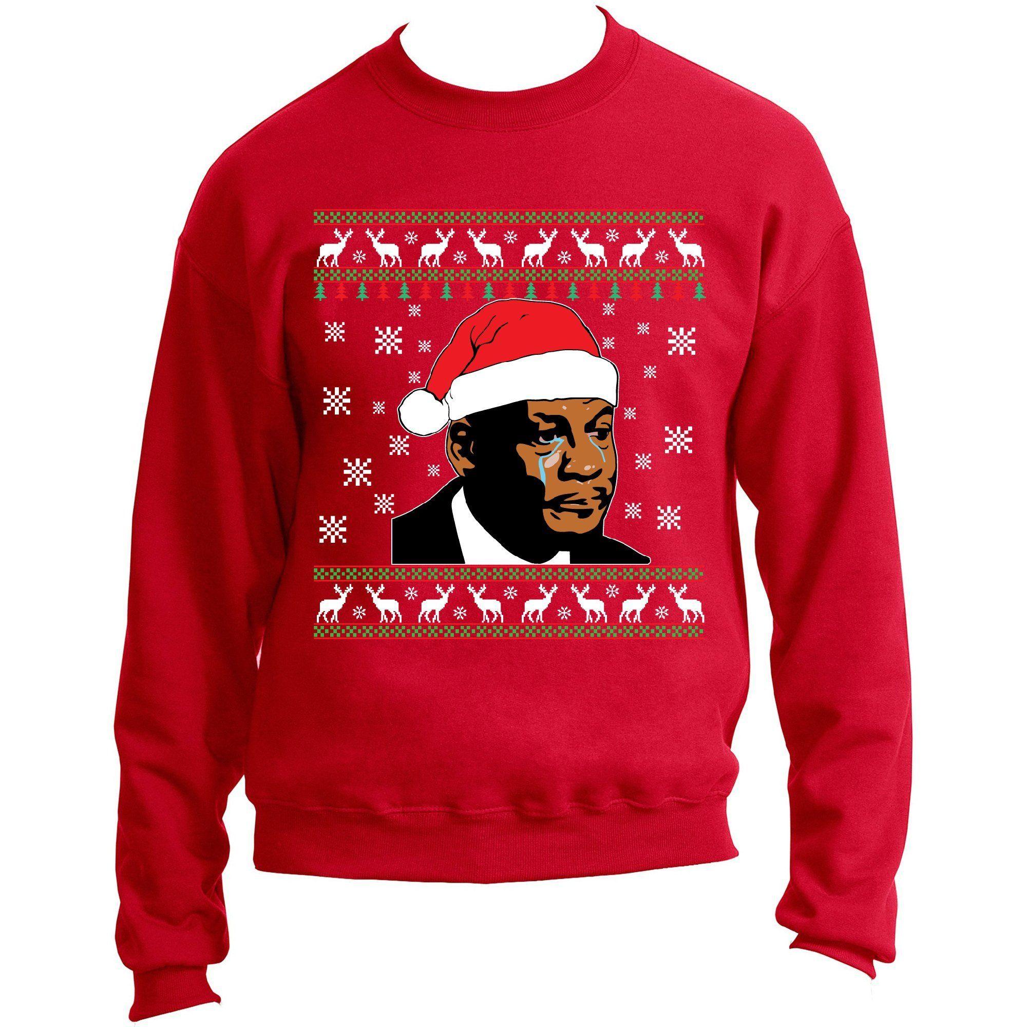 8eb3cdcab0ba5b Crying Jordan Meme Sneakerhead Red Ugly Christmas Sweater