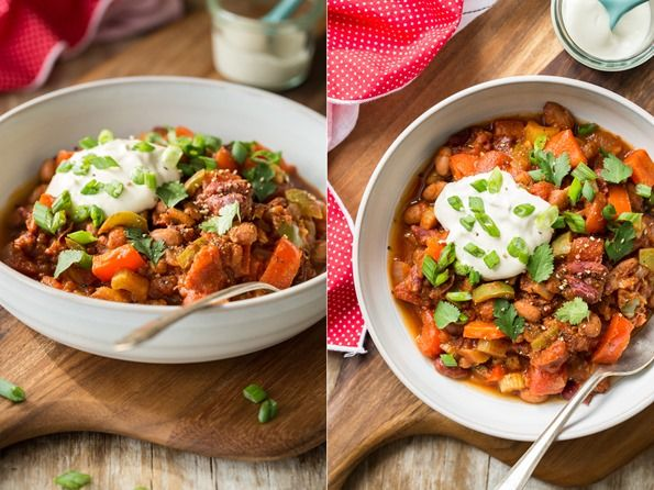 My Favourite Vegan Chili With Homemade Sour Cream Recipe Vegan Chili Homemade Sour Cream Healthy Recipes