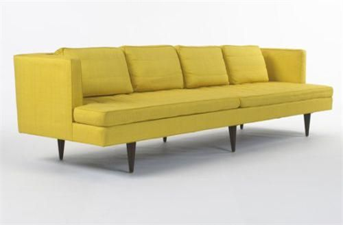 Merveilleux Edward Wormley Sofa, Model #4907R Dunbar USA, 1969 Silk, Rosewood, B