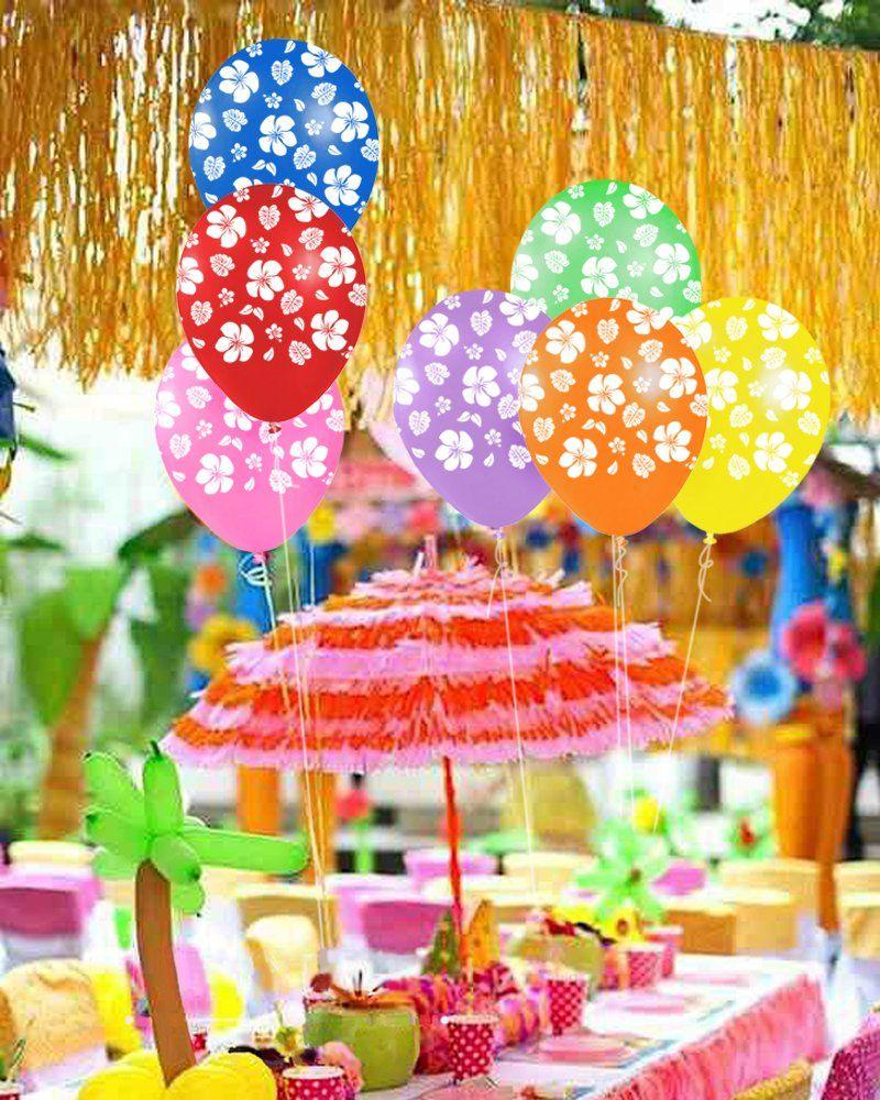 Hawaiian Luau Assortment of Balloons