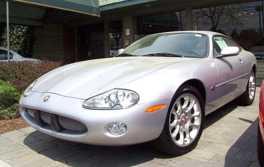 2002 Jaguar XKR Coupe Color: Platinum