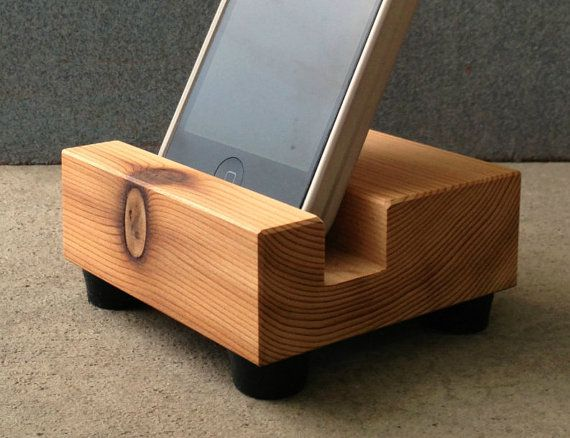 iPhone 4, iPhone 5 Docking Station, iPhone Stand in Mid Century Style