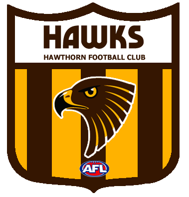 Brown And Yellow Scarf Football Team Logos Hawthorn Football Club Hawthorn Football