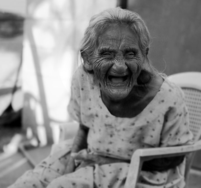 She didn't get all those wrinkles from not laughing!