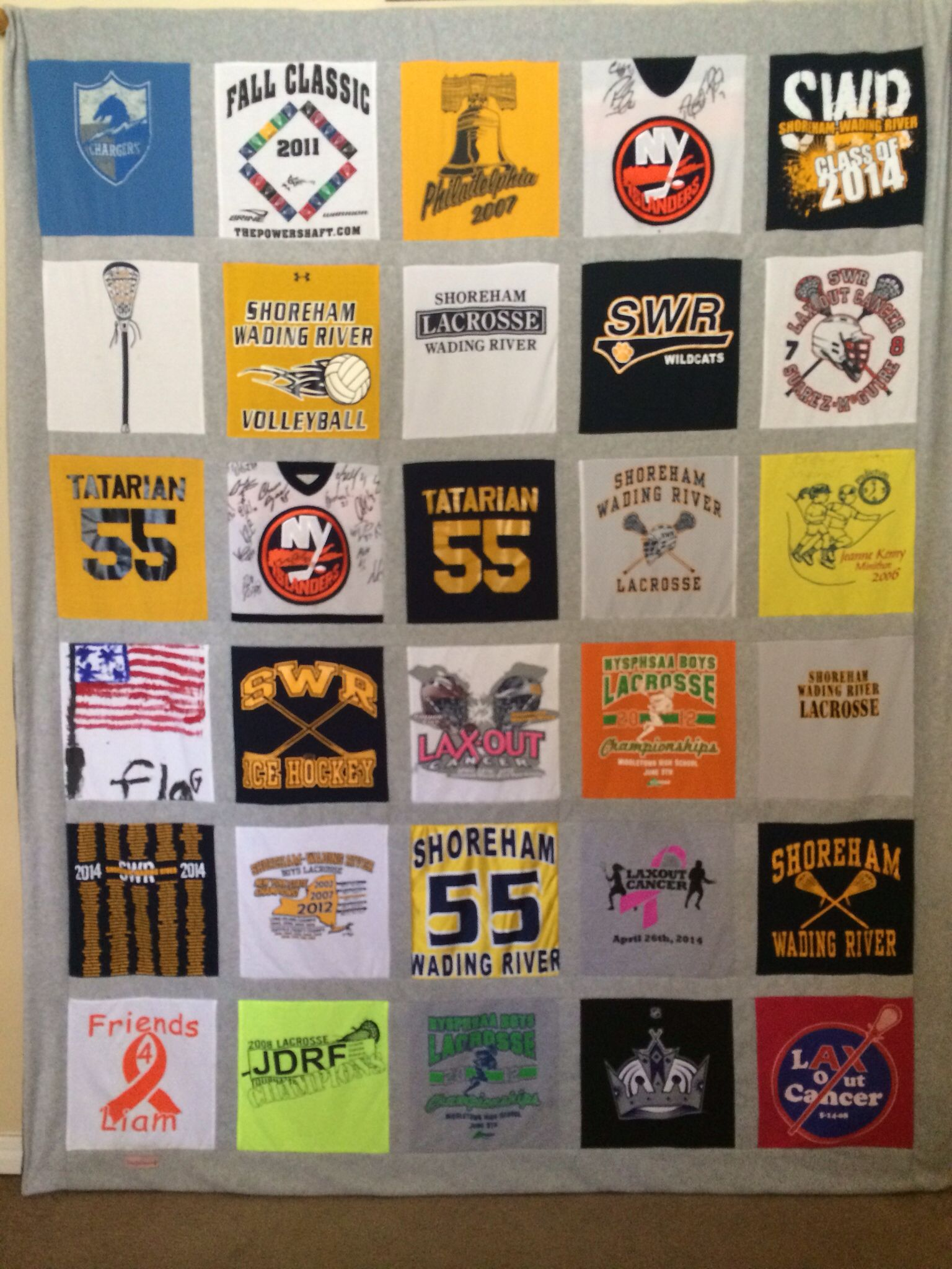 LaCrosse T-shirt Quilt