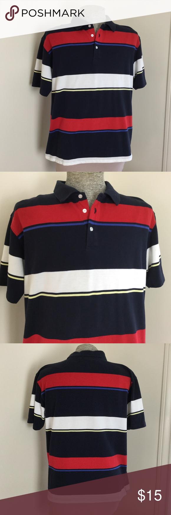 0603b1fe8 Bugle Boy Mens XL Striped Polo Shirt Great looking shirt. Bugle Boy Striped  XL Excellent Condition 60% Cotton, 40% polyester Measurements: Laying Flat  Pit ...