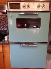Vintage 1960 S Ge Tiffany Blue Double Wall Oven Electric 350 00