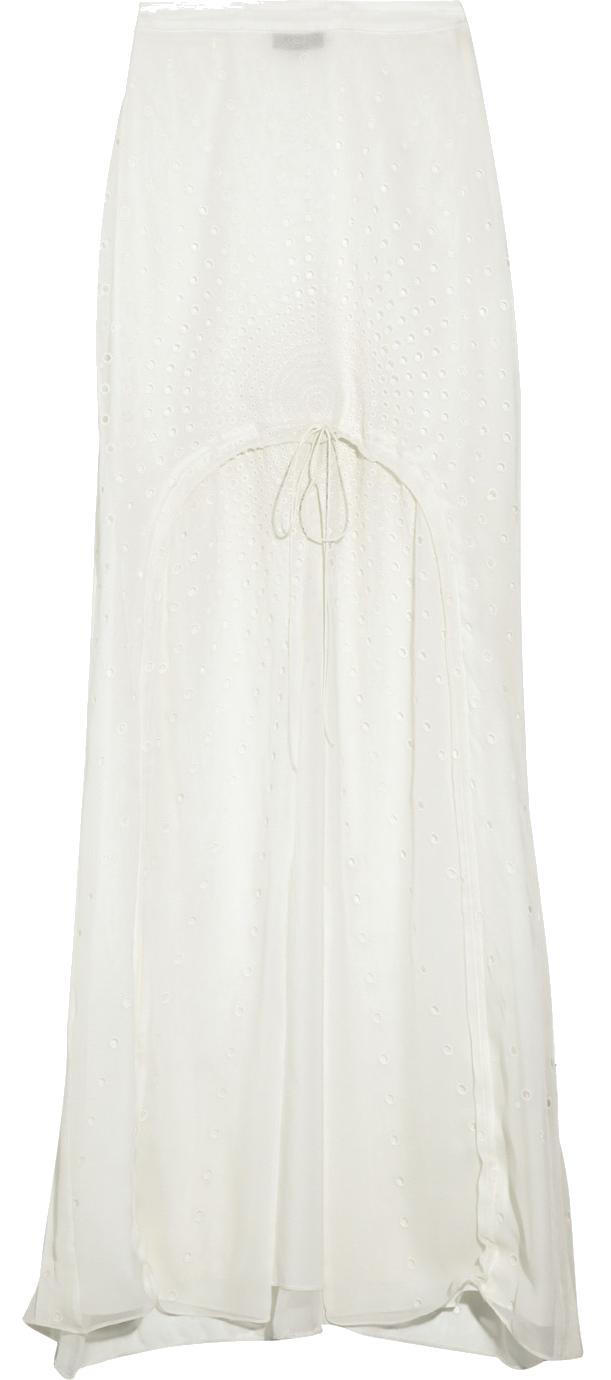 VERA WANG | Drawstring Silk Chiffon Maxi Skirt ($1,495)