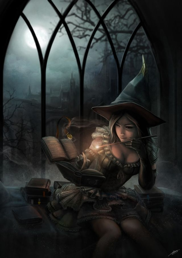 A Touch of Magic Picture (2d, fantasy, magic, mage, girl, woman ...