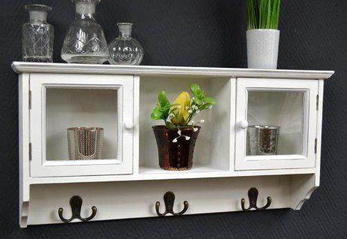 Wandschrank Schrank Vitrine Hängeschrank Regal Wandregal Glastüren - kleine regale für küche