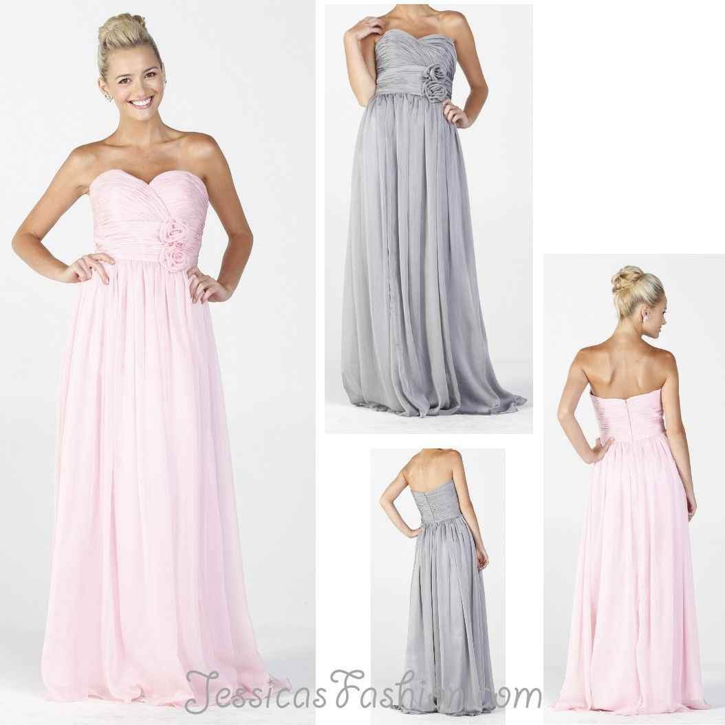 Long bridesmaid dress in color fuchsiapink silver black more long bridesmaid dress in color fuchsiapink silver black more sweetheart neckline style in chiffon plus size available ombrellifo Images