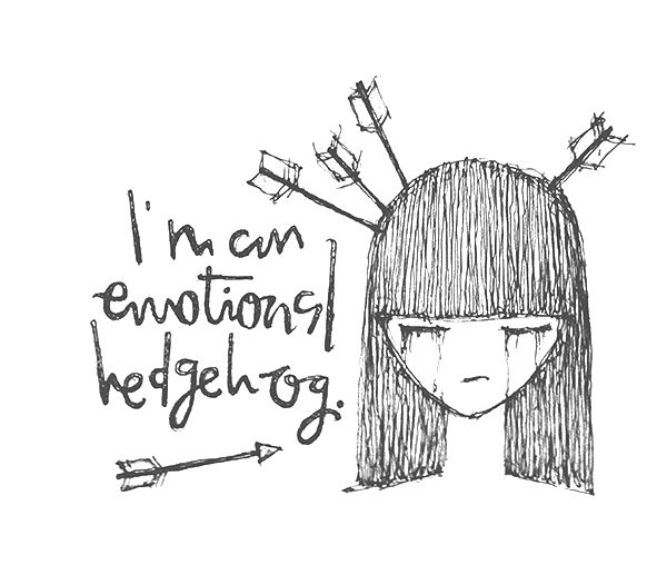 Im An Emotional Hedgehog Doodle Illustration Of Crying Girl - 20 heartbreaking doodles that will have you laughing and then crying