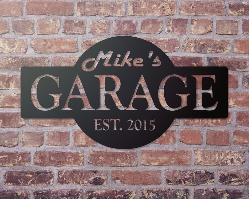 Garage Personalized Sign Garage Decor Custom gifts for Men   Etsy