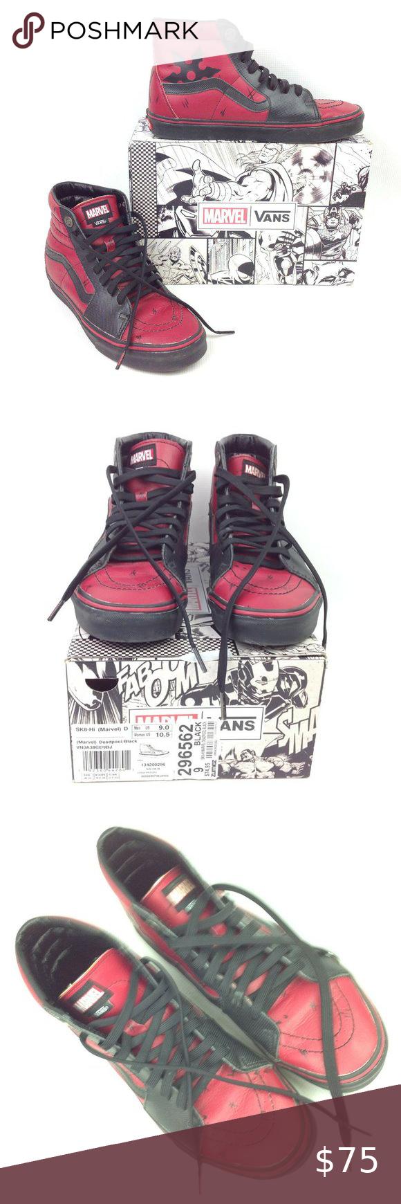 Vans Marvel Deadpool Sk8 Hi Shoes Size