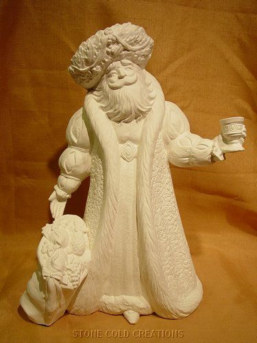 Renaissance Bisque Santa Clause 15 Tall 19 99 Ready To Paint Ceramics Holiday Pottery Ceramic Painting