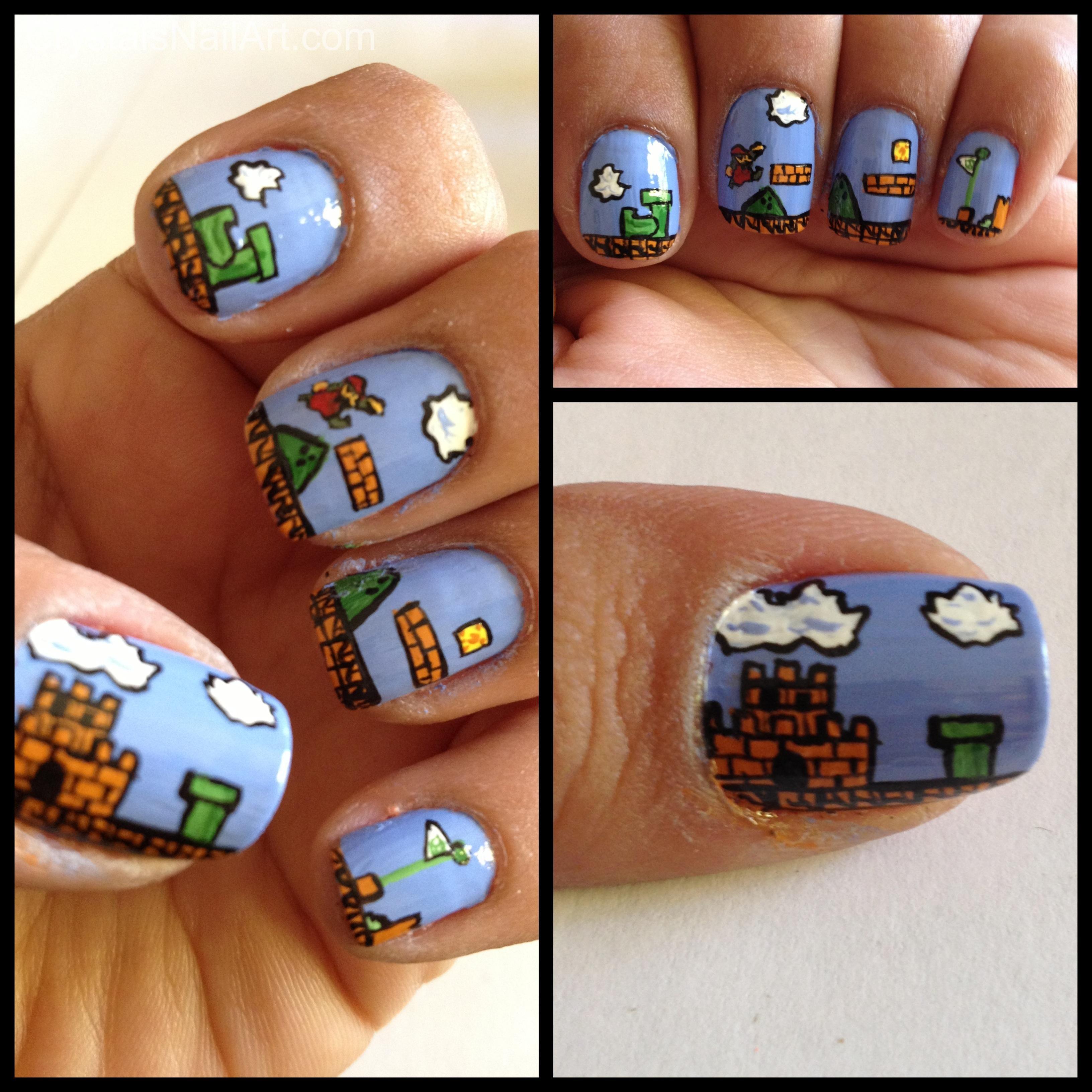 Super Mario Nail Art | Nail art/tutorials | Pinterest | Nail nail ...