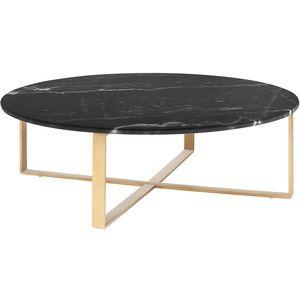 Nuevo Rosa Black Marble Coffee Table