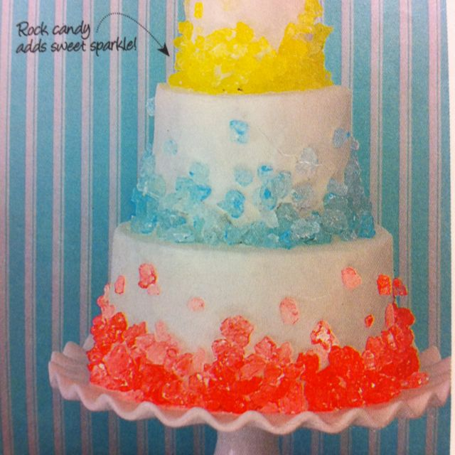Rock candy cake!