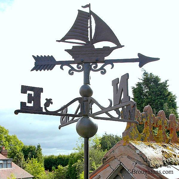 Sail Boat Cast Iron Weather Vane Small