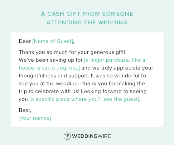 Wedding Gift Thank You Notes Wording: These Wedding Thank-You Note Templates Are Legit Essential