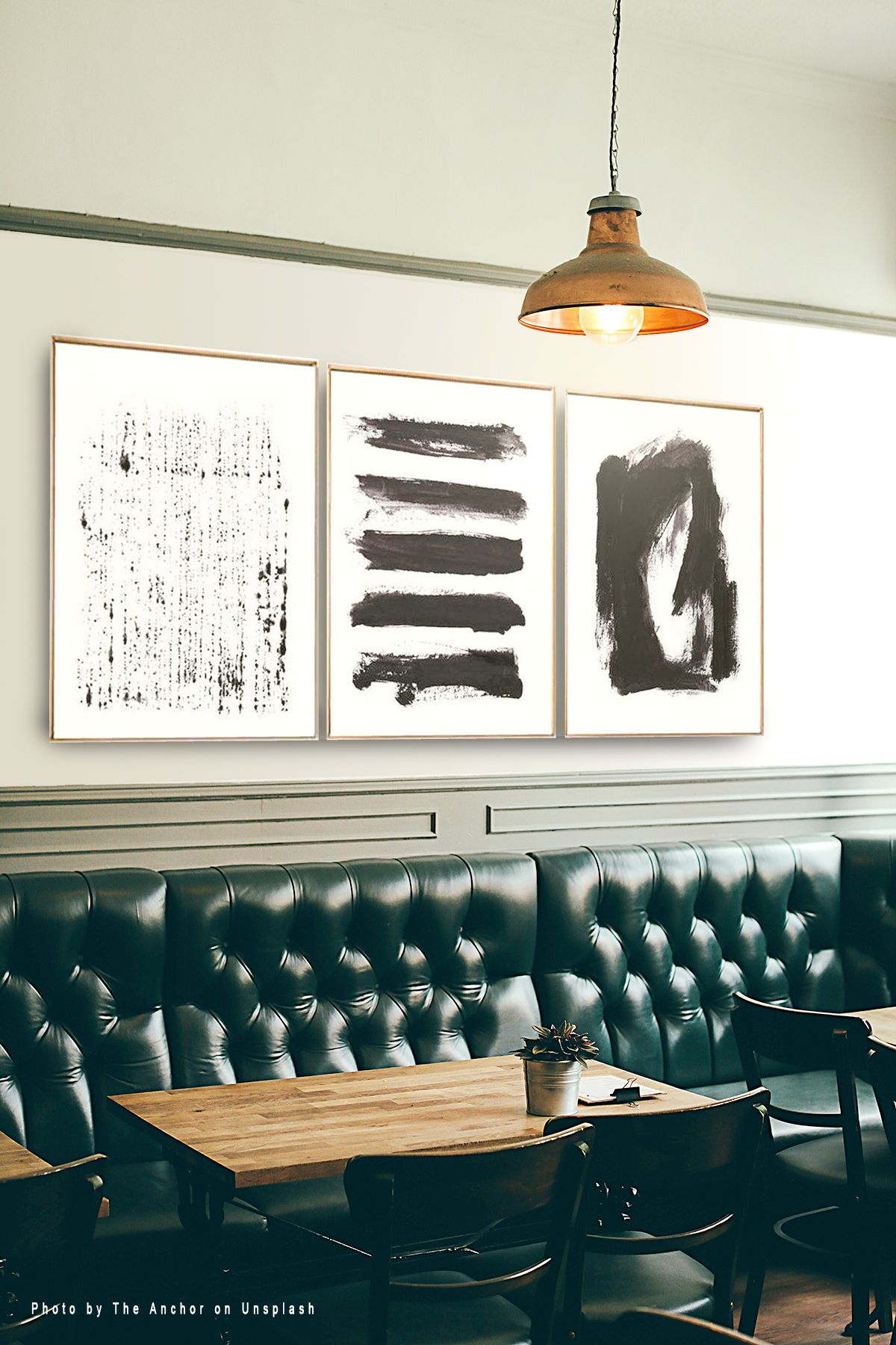 Set of black abstract prints set of wall art abstract wall art