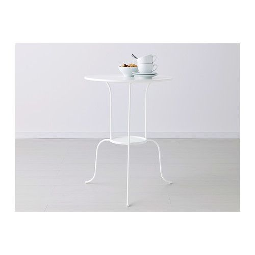 Lindved mesa auxiliar blanco mesa auxiliar ikea for Reposapies oficina ikea