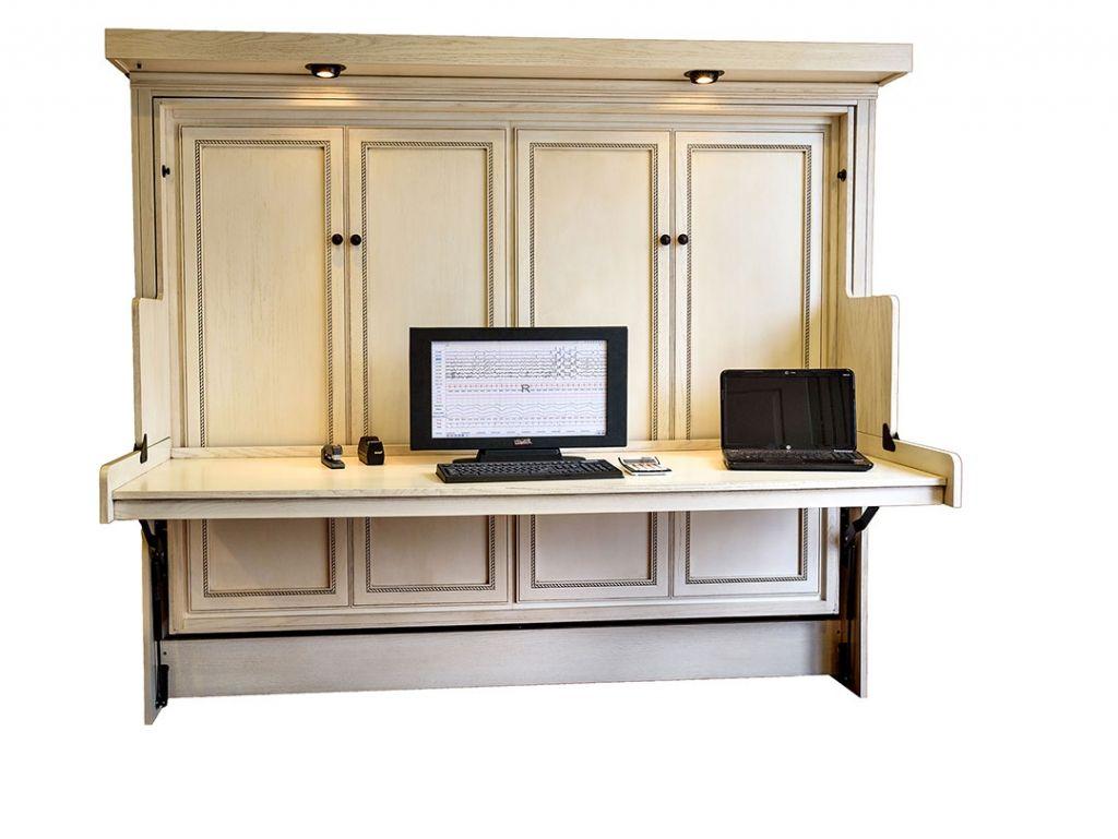 Wand Bett mit Schreibtisch executive home office Möbel Überprüfen ...