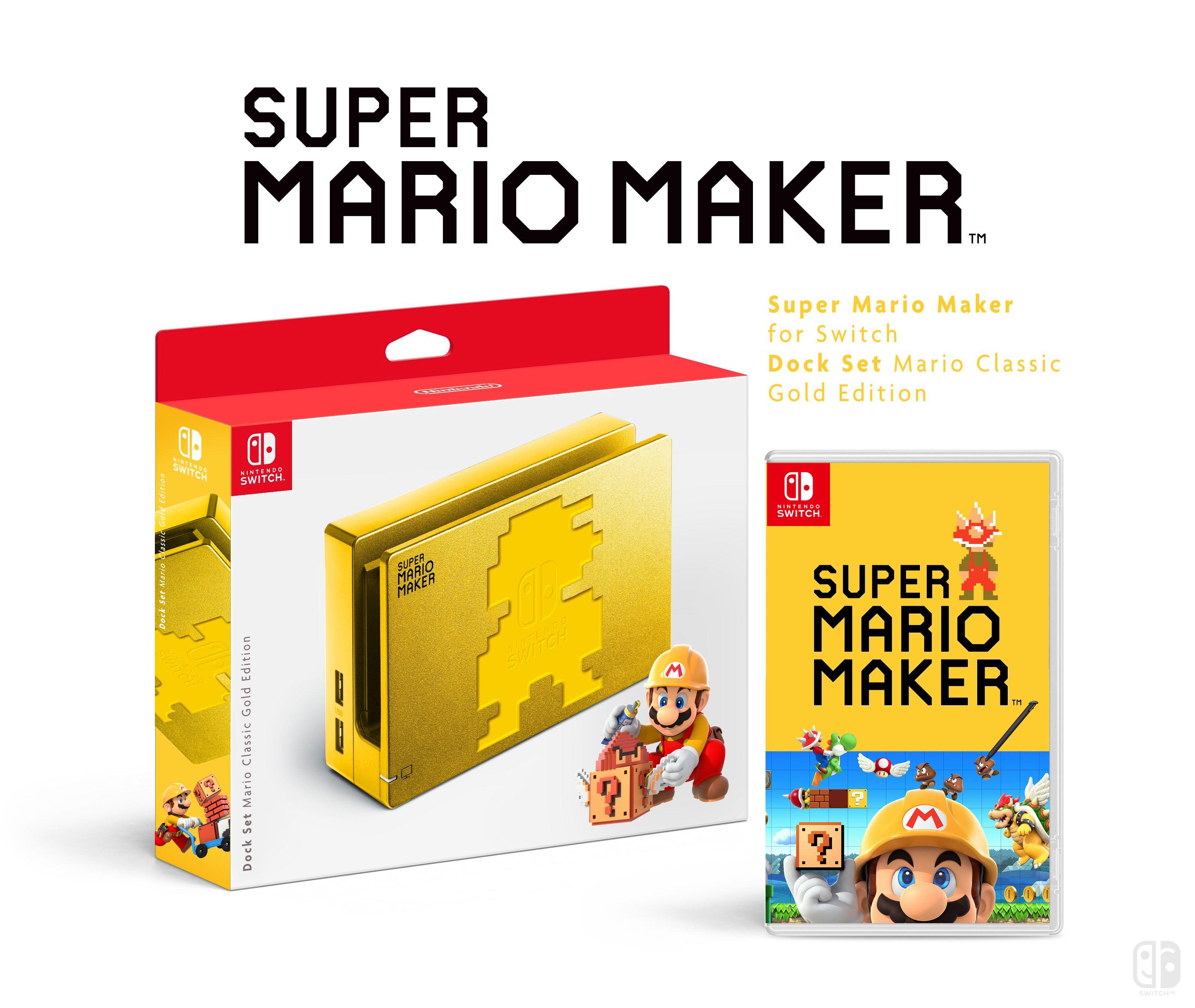 Dock set mario classic gold super mario maker nintendo