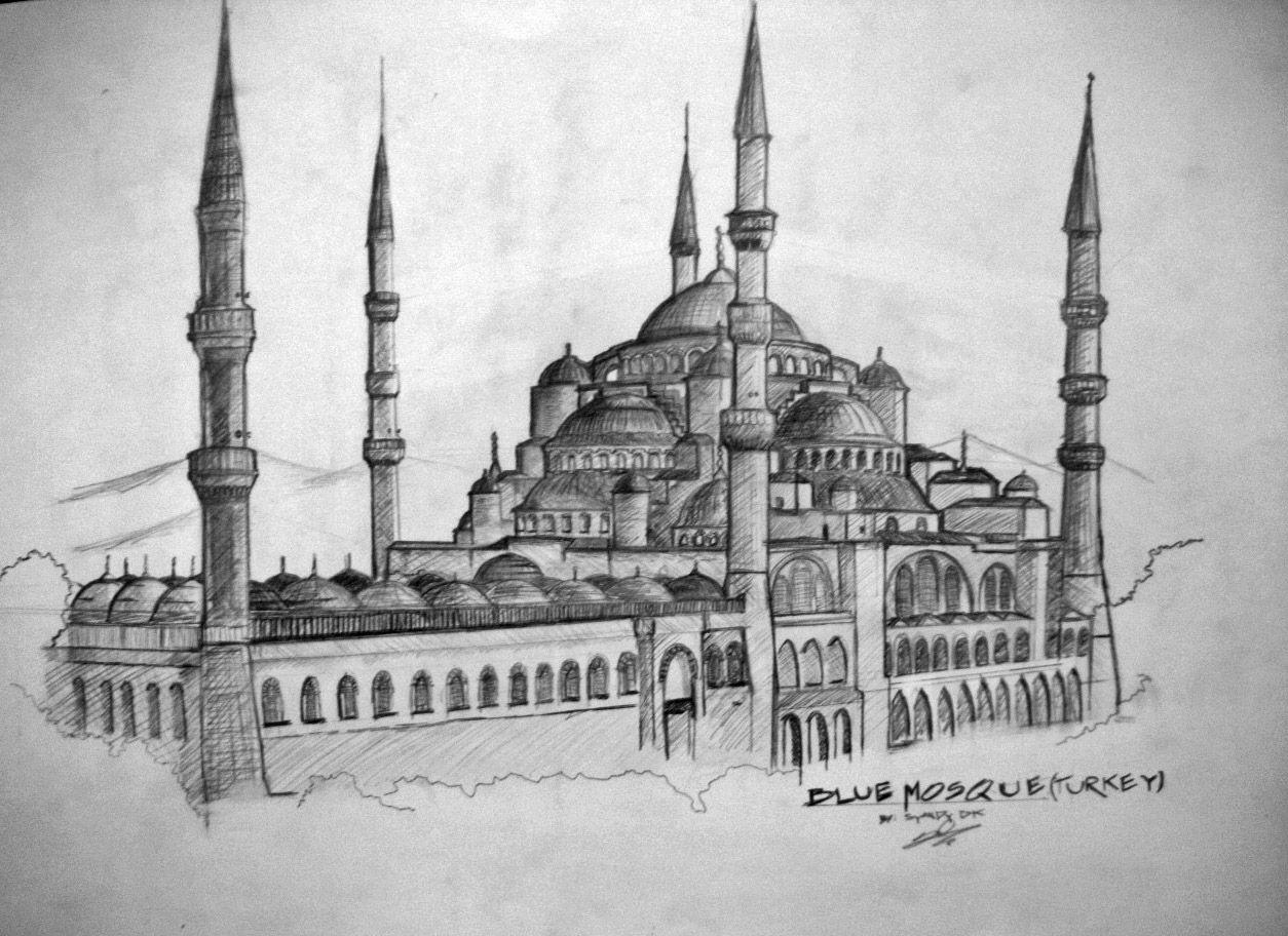 101  Gambar Masjid Pensil Paling Keren