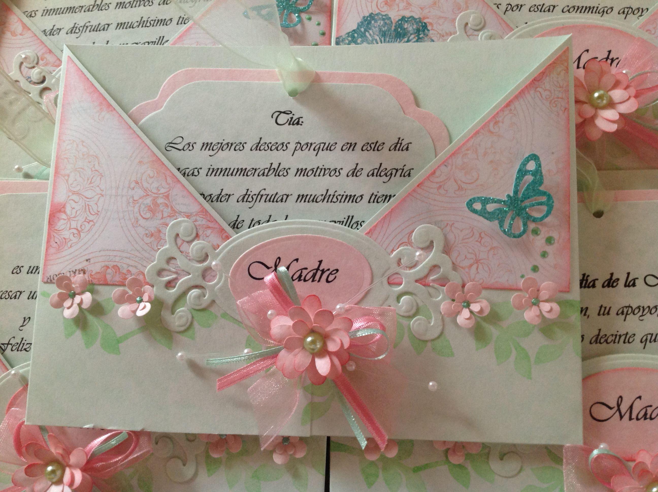 Tarjeta  madre scrapbook